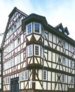 Holzfenster im tradition.- Fachwerkhaus