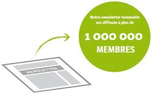 Notre newsletter mensuelle est diffusée auprès de plus de 1 000 000 membres, surtout des dirigeants de PME, des acheteurs et des responsables import/export.