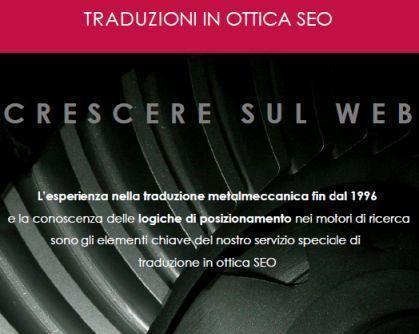 Traduzioni professionali in ottica SEO dedicate al settore della metalmeccanica e degli automatismi per i contenuti web aziendali.