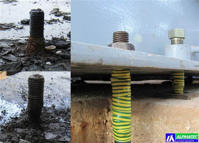 We fix broken and loosened anchor bolts, couple them with new sections or, if necessary, replace them with new proper ones.