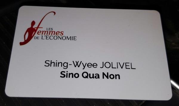 Sino Qua Non Candidate as Femme d'Economie