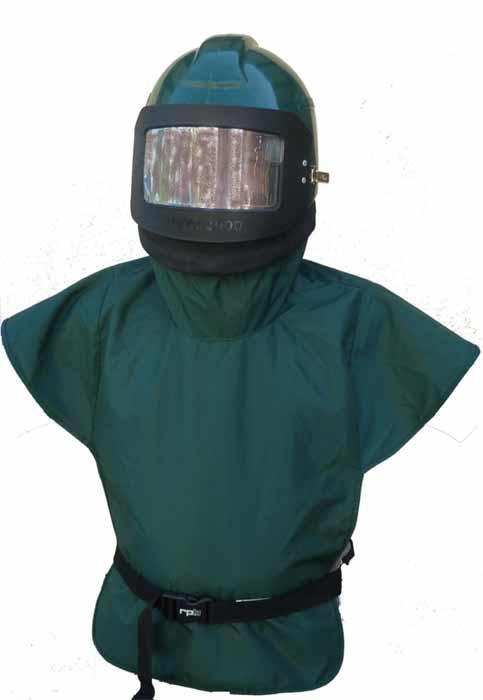Strahlerschutzhelm mit Druckluftzufuhr