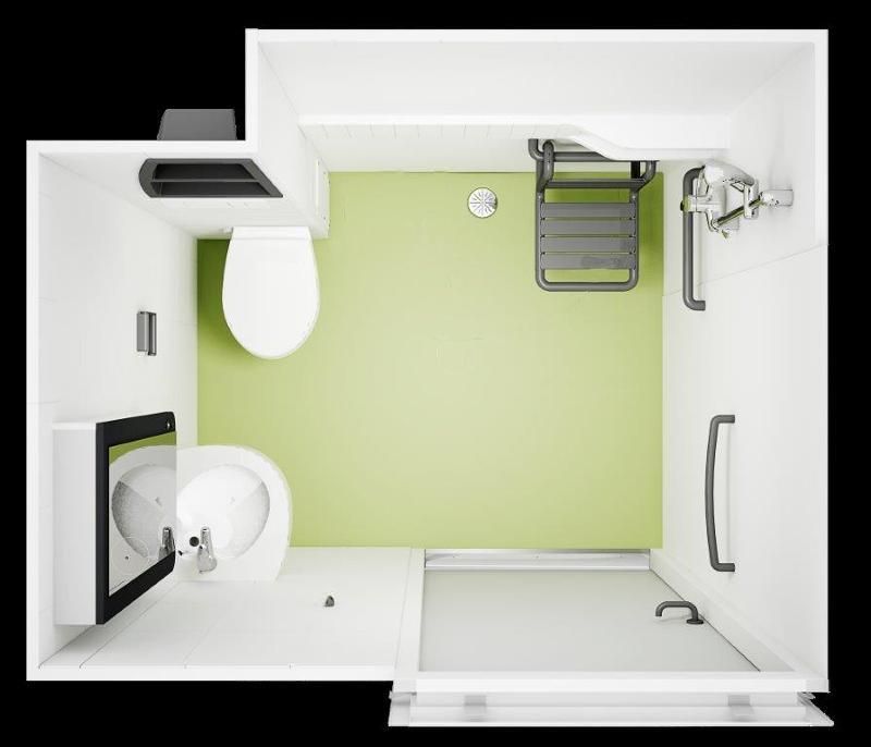 S pod benelux systeembouw en prefabbouw prefab badkamer sanitaire unit op europages for Badkamer model