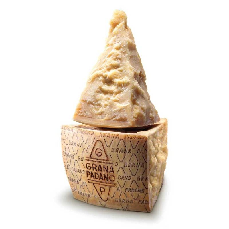 Grana Padano DOP cheese in different seasoning. High quality products.