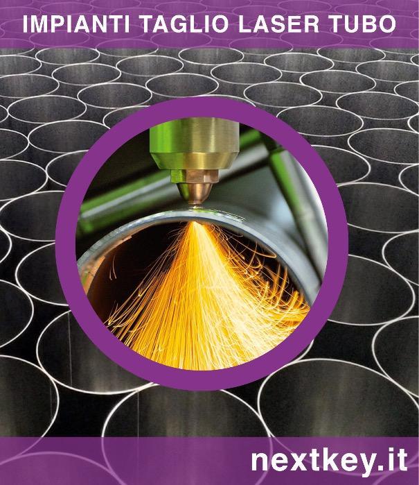 Taglio laser tubi in acciaio inox