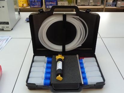 Cette mallette permet des échantillonnages sans pollution et très facilement.