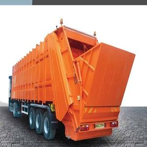 EMS Makina is Manufacturer of  Rear Loading Waste Tranfer Compression Semit trailer(Refuse Trailer). Capacity: 52m3 - 60m2.