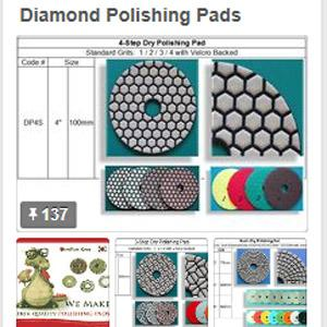 RM Tech Korea (StoneTools Korea®) makes a complete line of diamond polishing pads for different applications to granite, marble, engineered stones and concrete polishing.