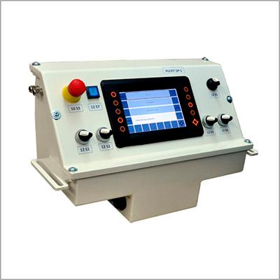 example of a control panel for a self-propelled machine