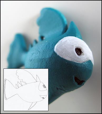 Partiendo de un dibujo infantil, conseguimos crear una figura. Un producto exclusivo para los más pequeños.