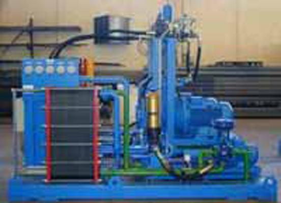 Nella foto è riportato un tipo di centrale idraulica