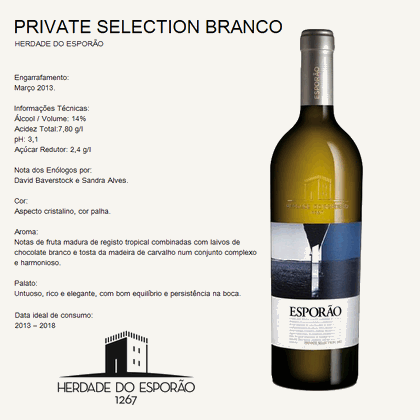 Herdade do Esporão - PRIVATE SELECTION BRANCO