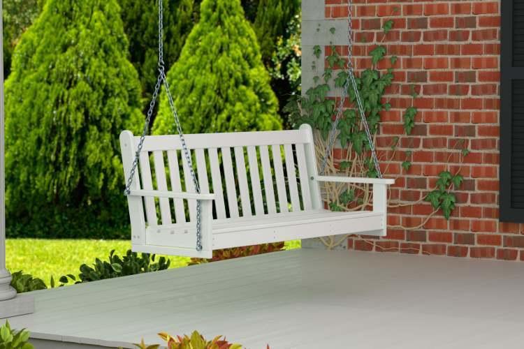 CASA BRUNO columpio VINEYARD,150 cms, HDPE poly-madera, blanco