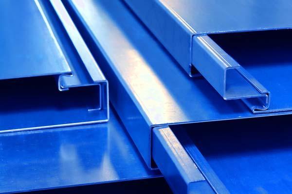 2-schalige Profile blau eingefärbt auf Profil Palette