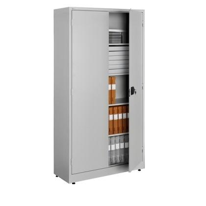 Steel cupboard, ideal fir use in wide range of environments. Dim (HxWxD) 1800X800X400mm Office cabinet with 4 shelves  weight capacity of 70 kg per shelf