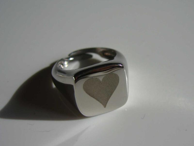 925 silver chevalier ring