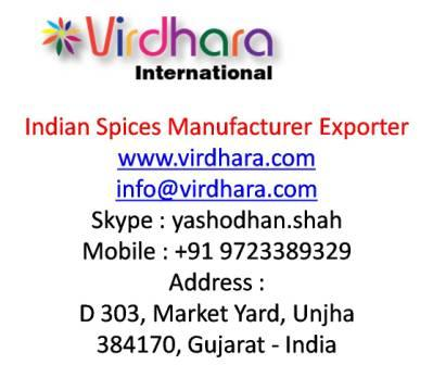Indian Spices Manufacturer Exporter|Virdhara International