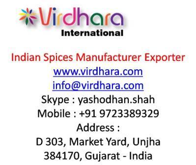 Indian Spices Manufacturer Exporter|Virdhara International