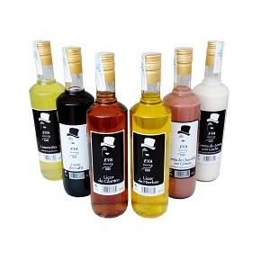 assortment of high quality gourmet liquors