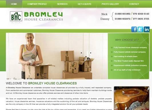 Bromley house clearance and probate valuations and rubbish clearance company