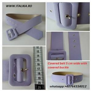 Fabric self covered belts