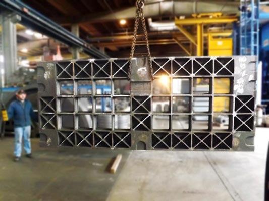 realizzazione di Basamento in EN-GJL300 kg. 6.500