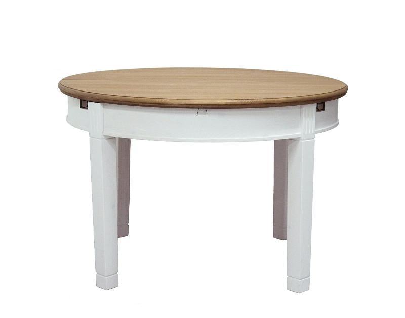 Стіл обідовий круглий з деревини .