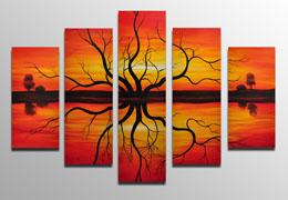 100% hand painted Landscapes paintings Framed wall art www.designartdecor.com
