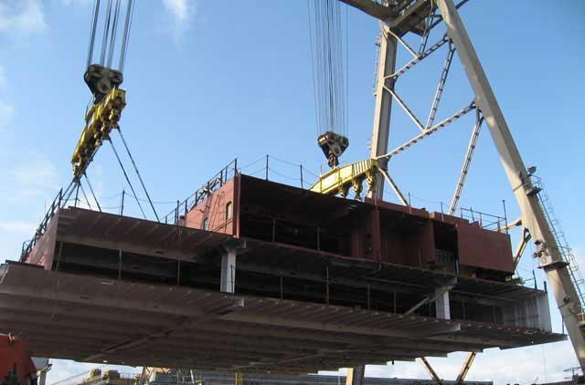 Heavy steel contruction