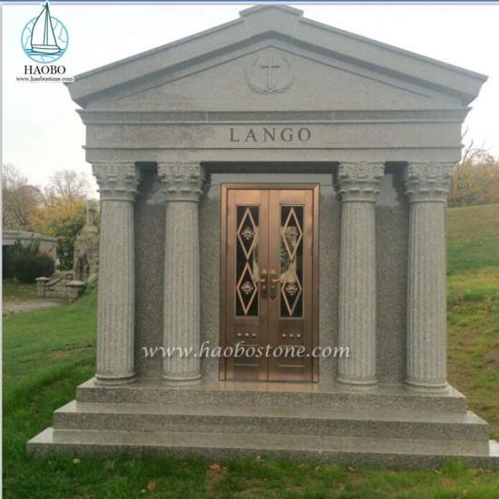 Manufacturer Customized 6 crypts Granite Mausoleum