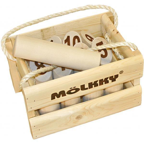 Le Mölkky ce jeu de lancer très populaire en Scandinavie qui combine adresse, tactique et chance et s'apparente à la fois au jeu de pétanque, de billard et de bowling.
