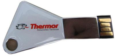 Customized pendrive shape key for Atlantic Iberica French company, Thermor division.
