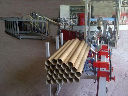 It is making paper cores for film cores, paper mill cores, strech film cores, textile cores,texture cores, carpet cores, ındustriel cores. www.atcmachinery.com