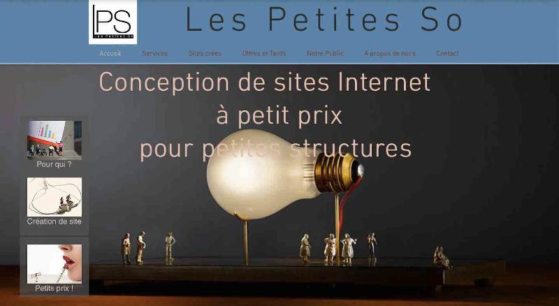 Page d'accueil du site Les Petites So