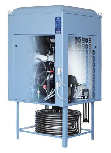 The Immersion Coolers are comprised of a housing and a stainless steel tube-coil evaporator (1.4301) underneath, which is immersed into the fluid to be cooled.