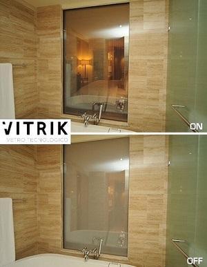Vetro LCD Tecnologico a comando per bagno e Hotel