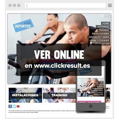 Puedes ver online este diseño web en versión móvil y en página web en http://www.clickresult.es