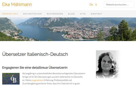 Screenshot meiner Website