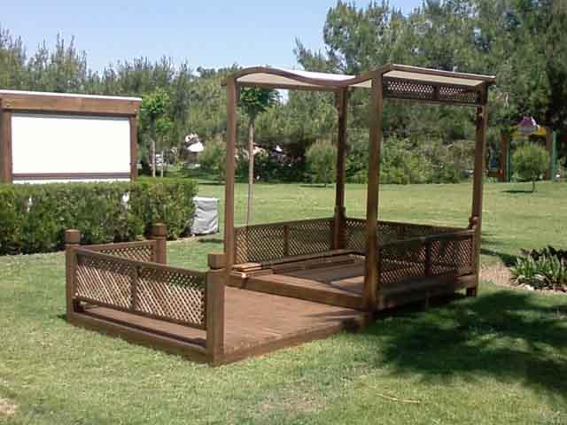 wooden pavillion