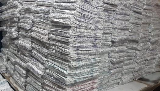 export of household linen in pallets
