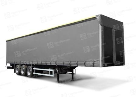 12000-14500*2550*3000-4000mm, 3 axle air suspension (distance between axles 1360mm), Track length: 2050mm, Loading height: 1200-1500mm, Wheels 385/65 R22.5, Front wall - optionally
