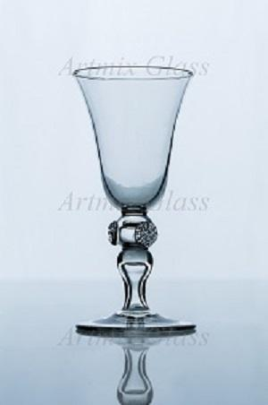 Beautiful hand blown glass used mainly for wine. Available in crystal and green color.
