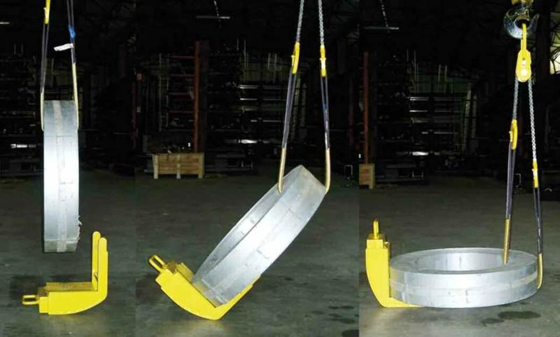 Tilting without jerking Prevents the coil from shifting Prevents the coil from rolling Prevents marking of metal sheet