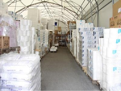 Hygiene supplies warehouse
