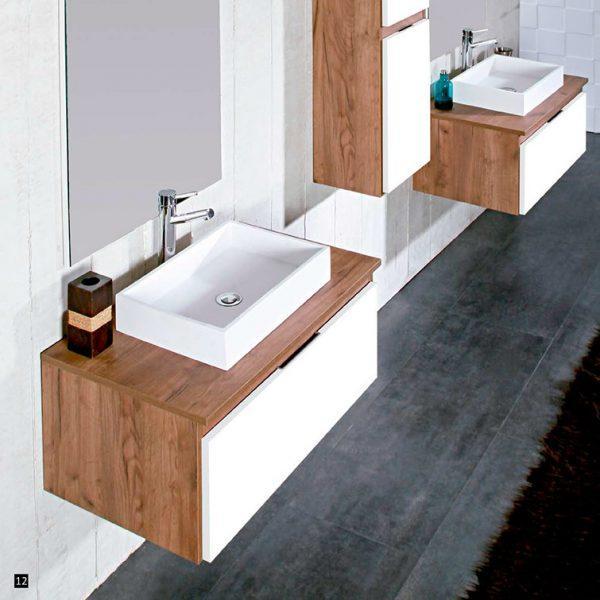 Juego completo de baño, mueble, lavabo, espejo.