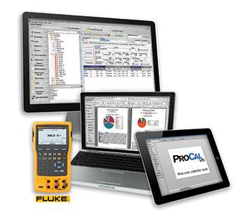 ProCalV5 works on many different devices as well as with many different calibrators to include Fluke Calibrators.