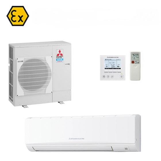 ATEX certified modification of a Mitsubishi Electric air conditioner. Wall mounted. Suitable for zone 2 and 22 hazardous area.