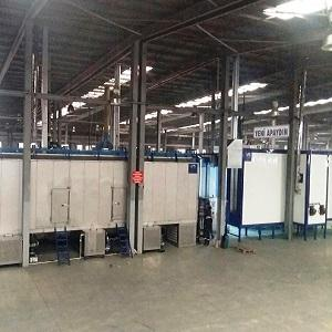 POWDER COATING  LINES WITH AUTOMATIC PRE-TREATMENT