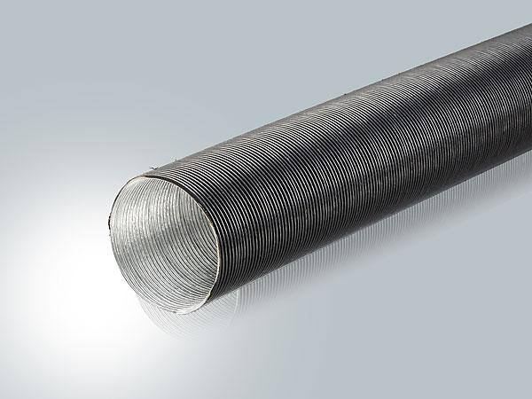 Flexible tube for fresh air supply without aggressive-additives, -vapor or abrasive solids