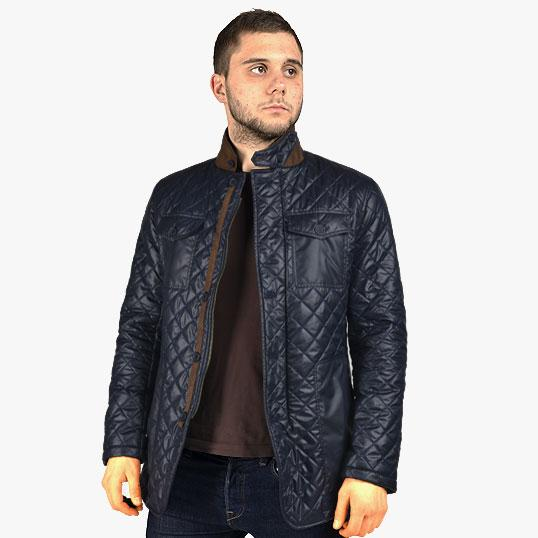 Fitted padded blazer jacket.